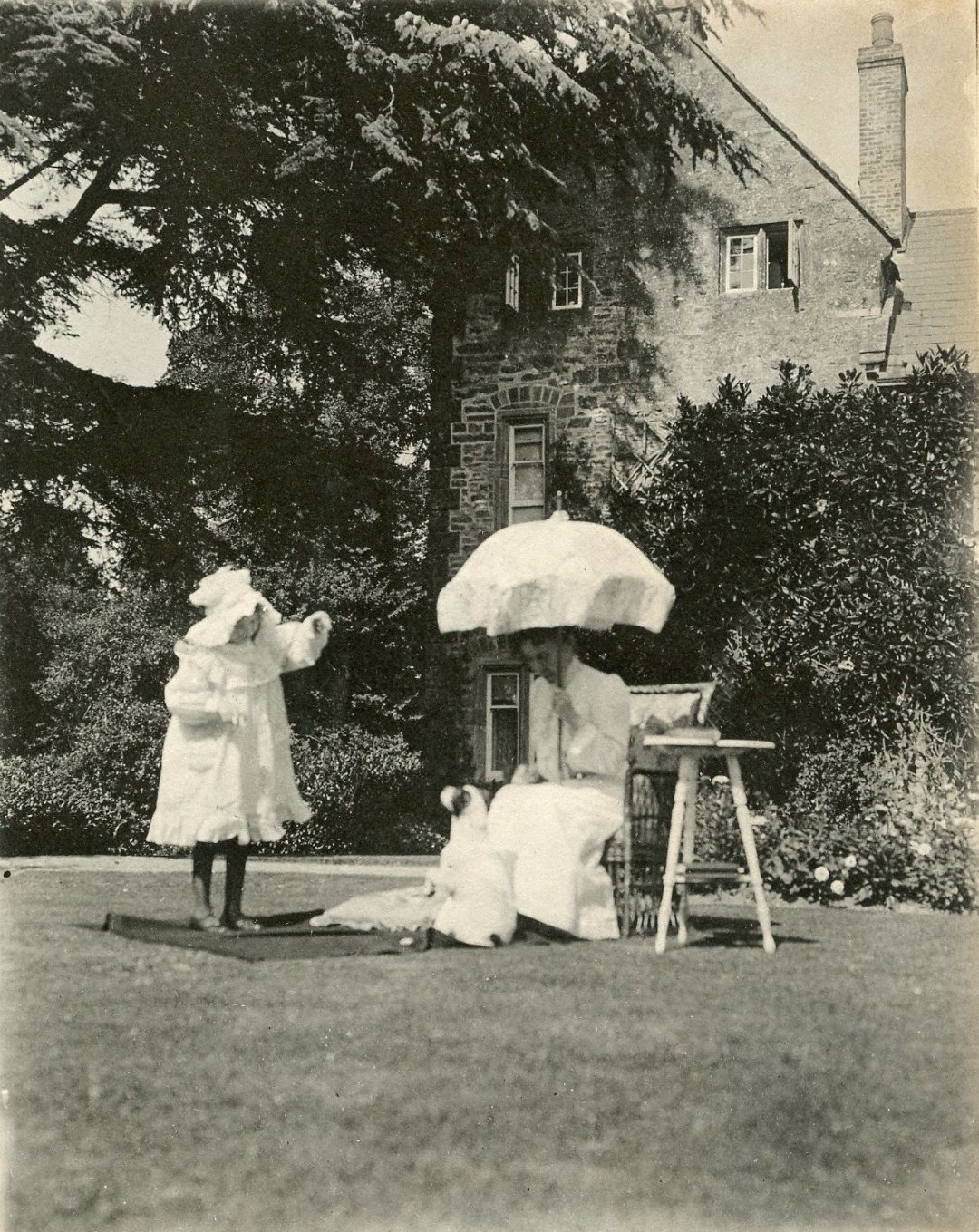Mrs Tate and Barbara Trent Rectory 1901