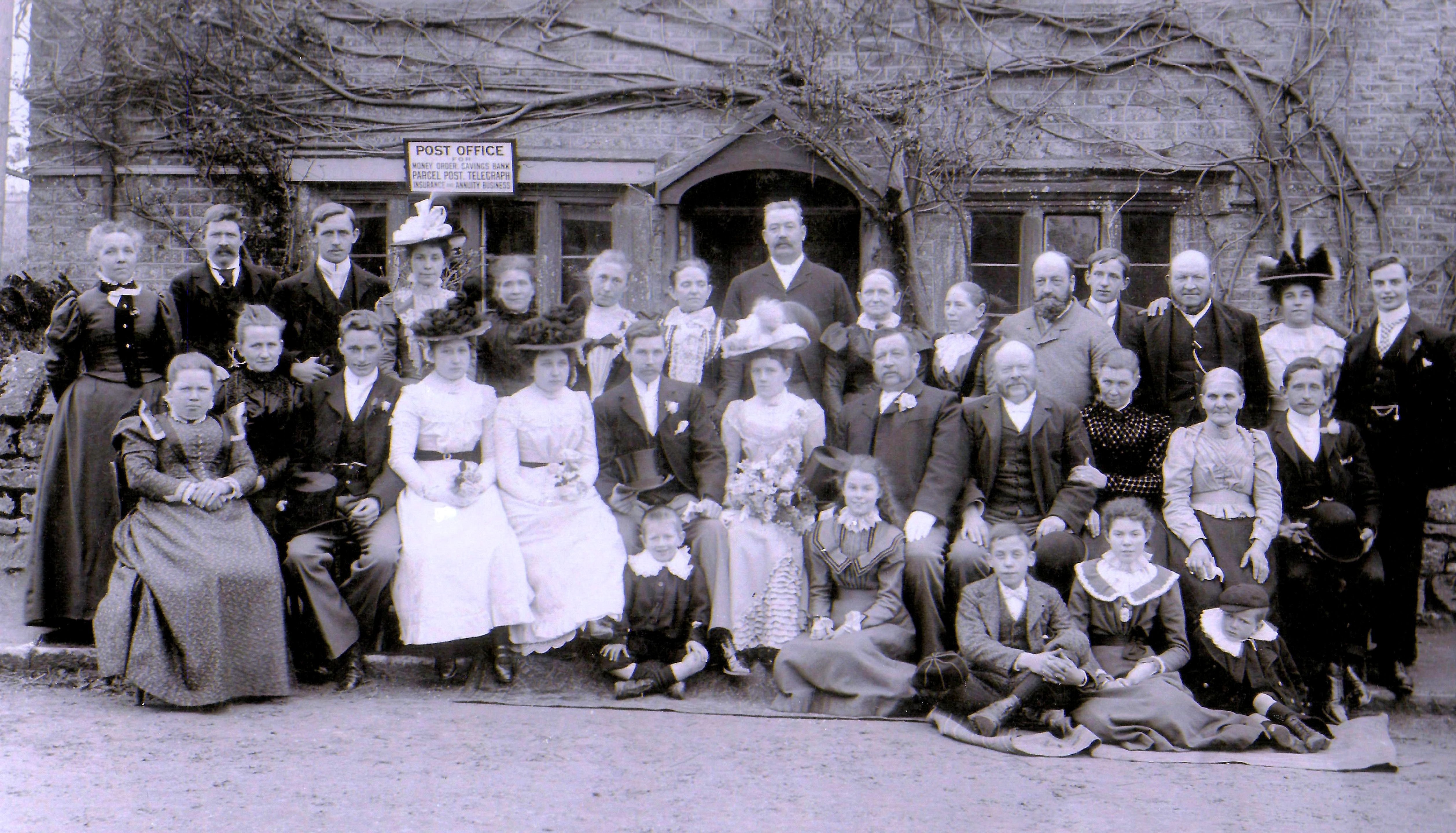 The wedding of Eveline Collings and George Bicknell, 1900