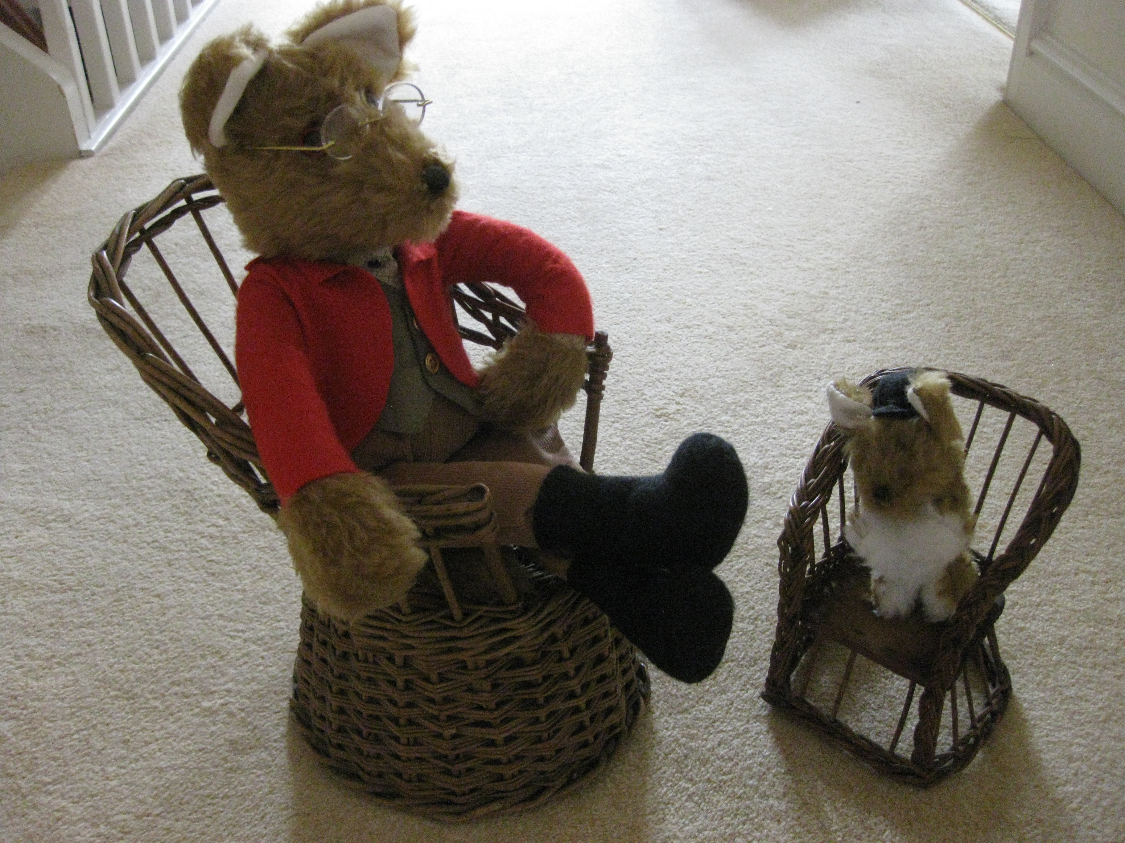 Little Basket Chairs made by Uncle Joe