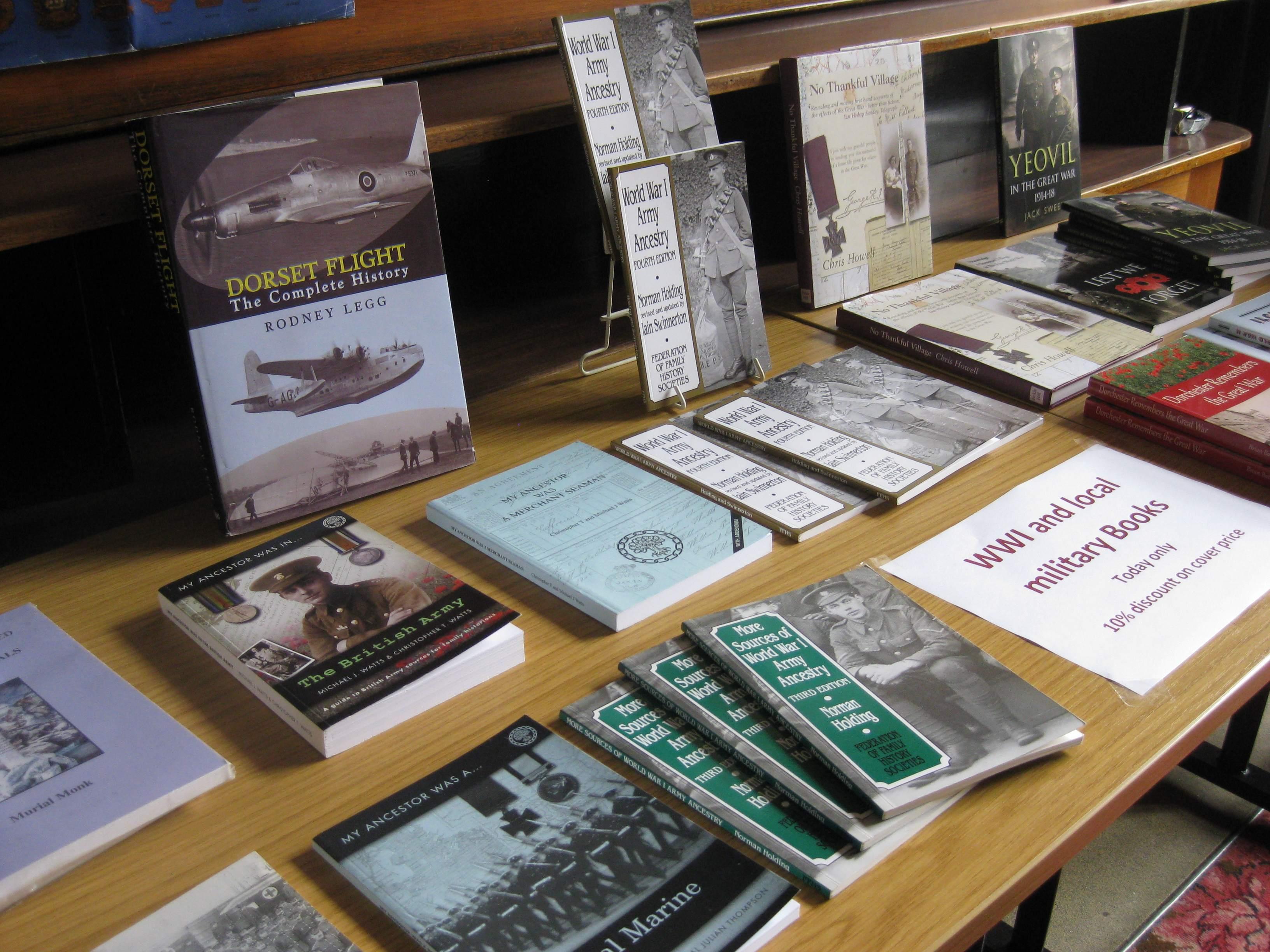 WWI books low