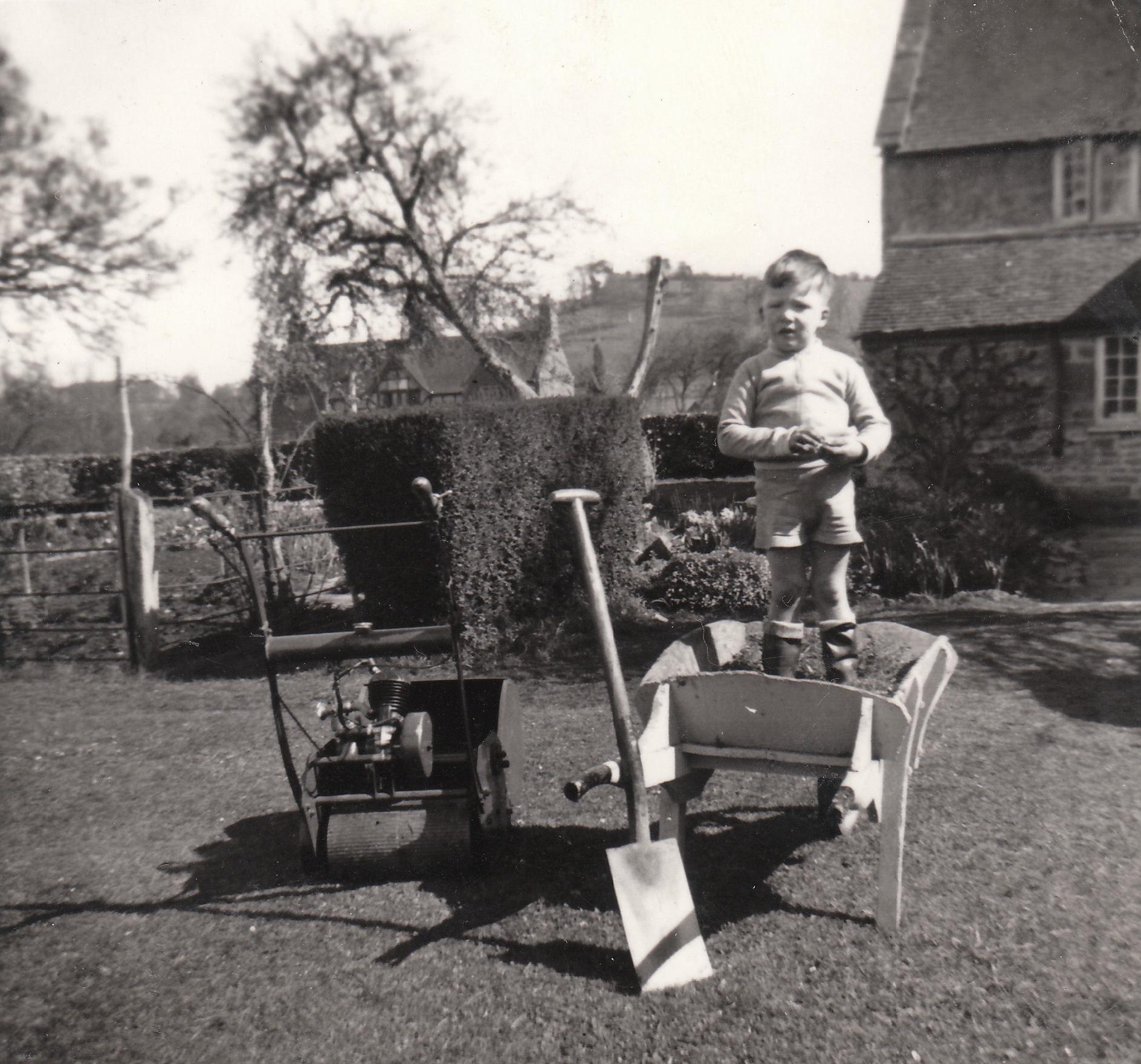 Roger with grandad's spade