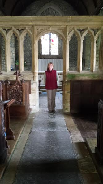 Me inside Church of St Mary the Virgin, Bradford Abbas