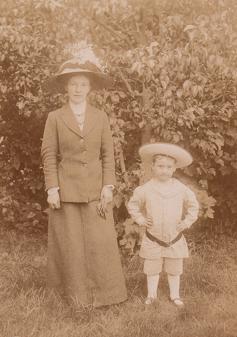 Mother and son c1910