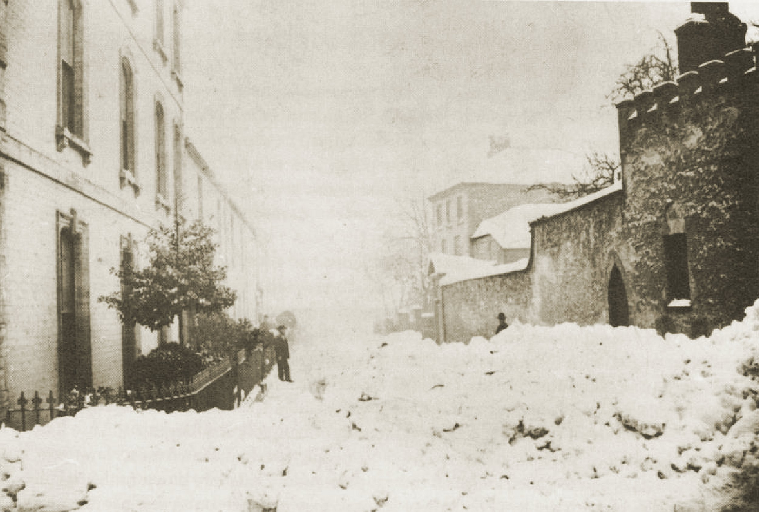Peter Street 1 - the great snow 1881