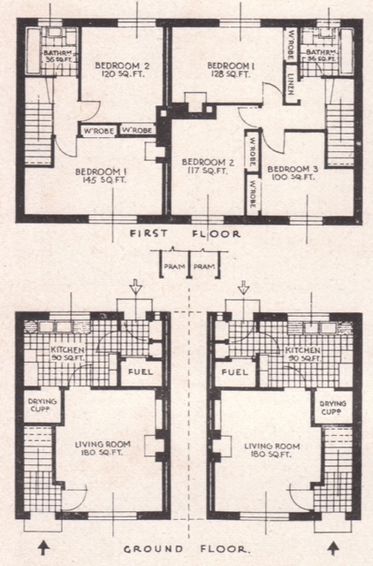 Plan of houses