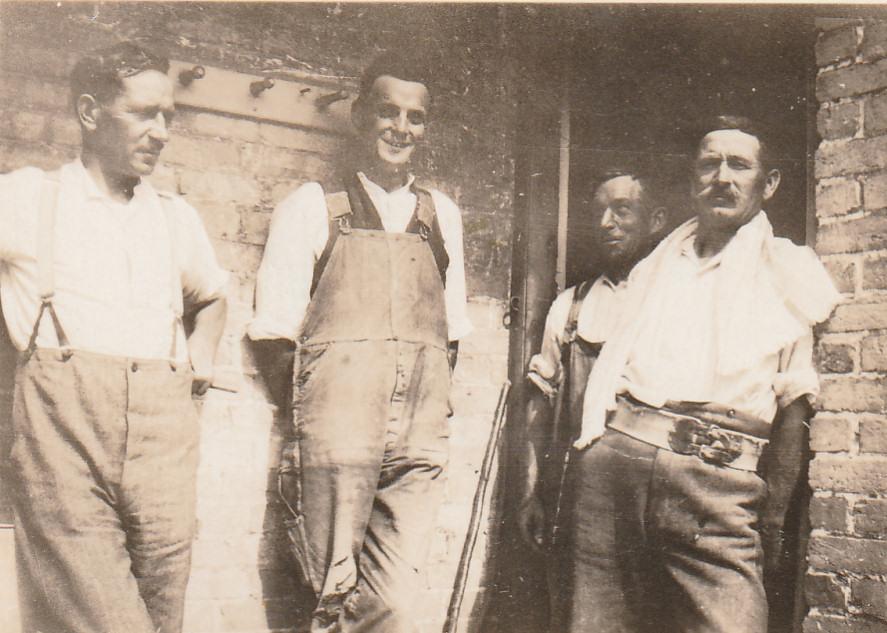 Hethfelton: Left Arthur Collings, Frank Hann behind 1929